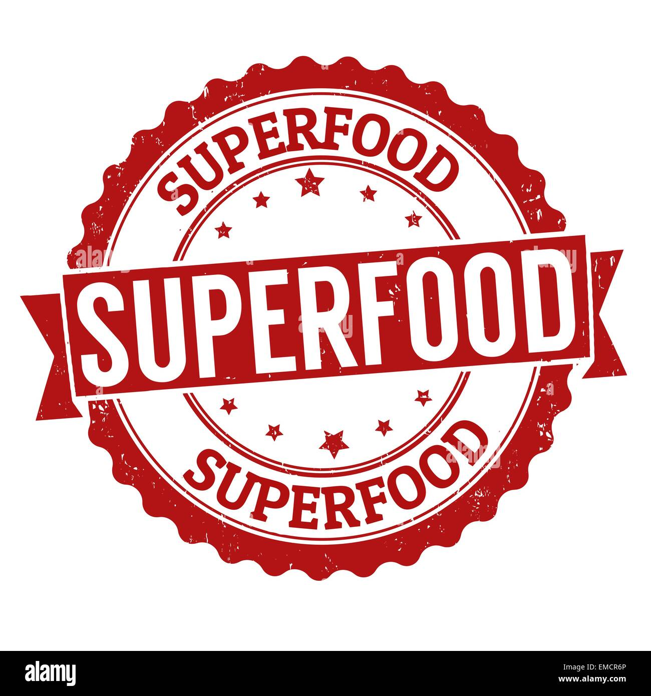 Superfood stamp - Stock Image