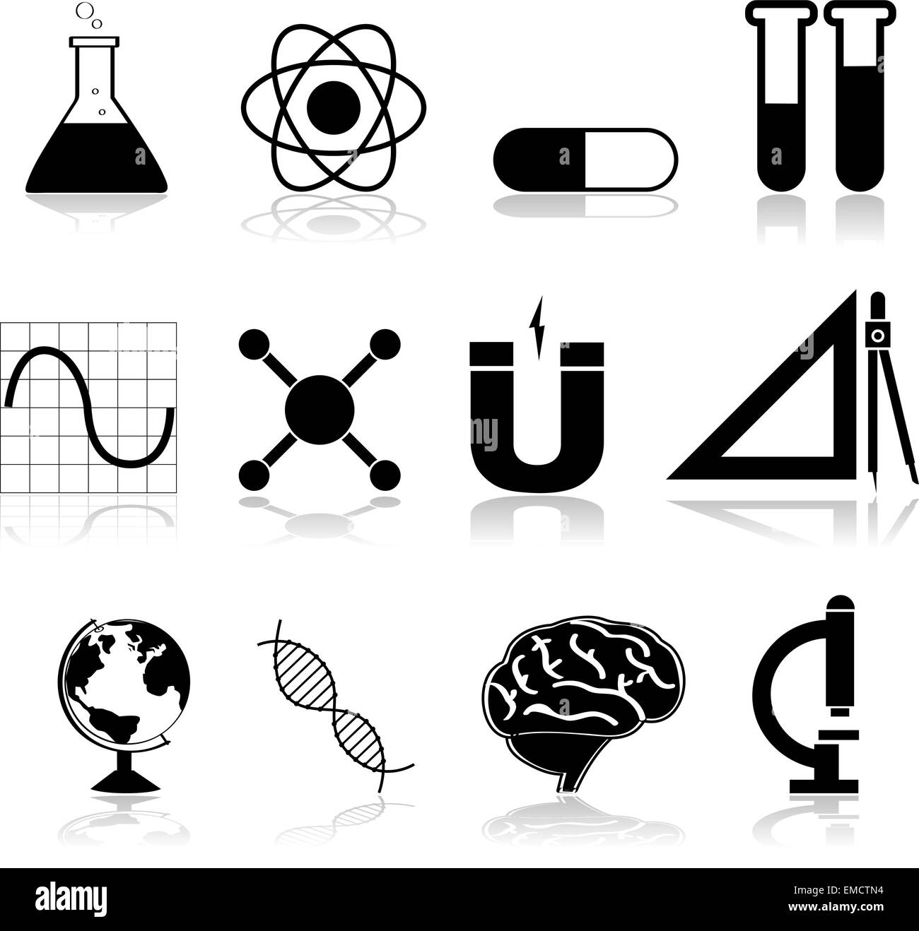 Science Icons Stock Vector Art Illustration Vector Image
