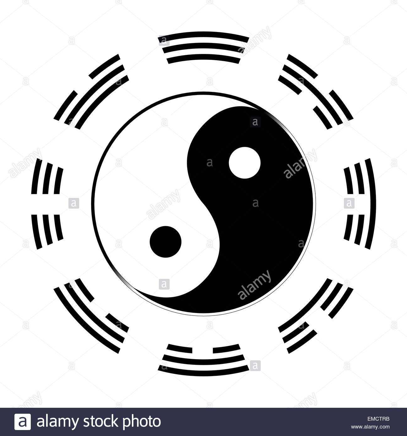 Yin Yang I Ching Symbols Around Stock Photos Yin Yang I Ching