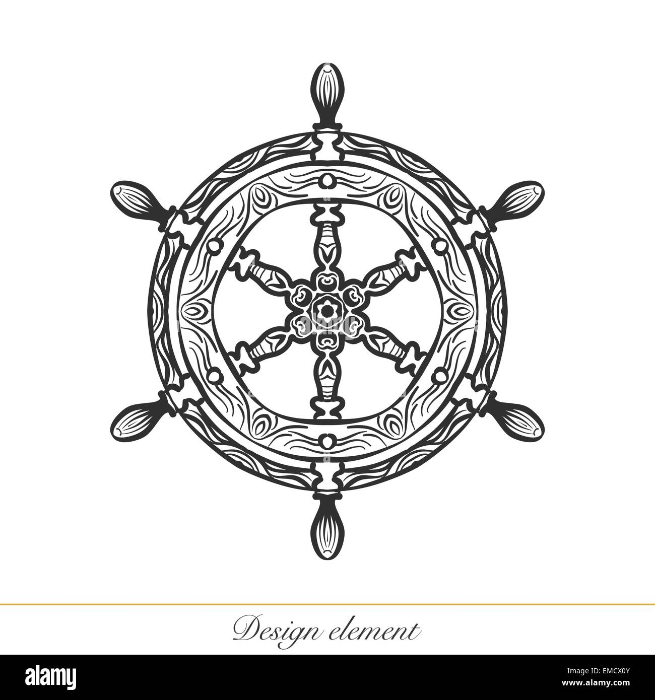 Ship Wheel Tattoo High Resolution Stock Photography And Images Alamy