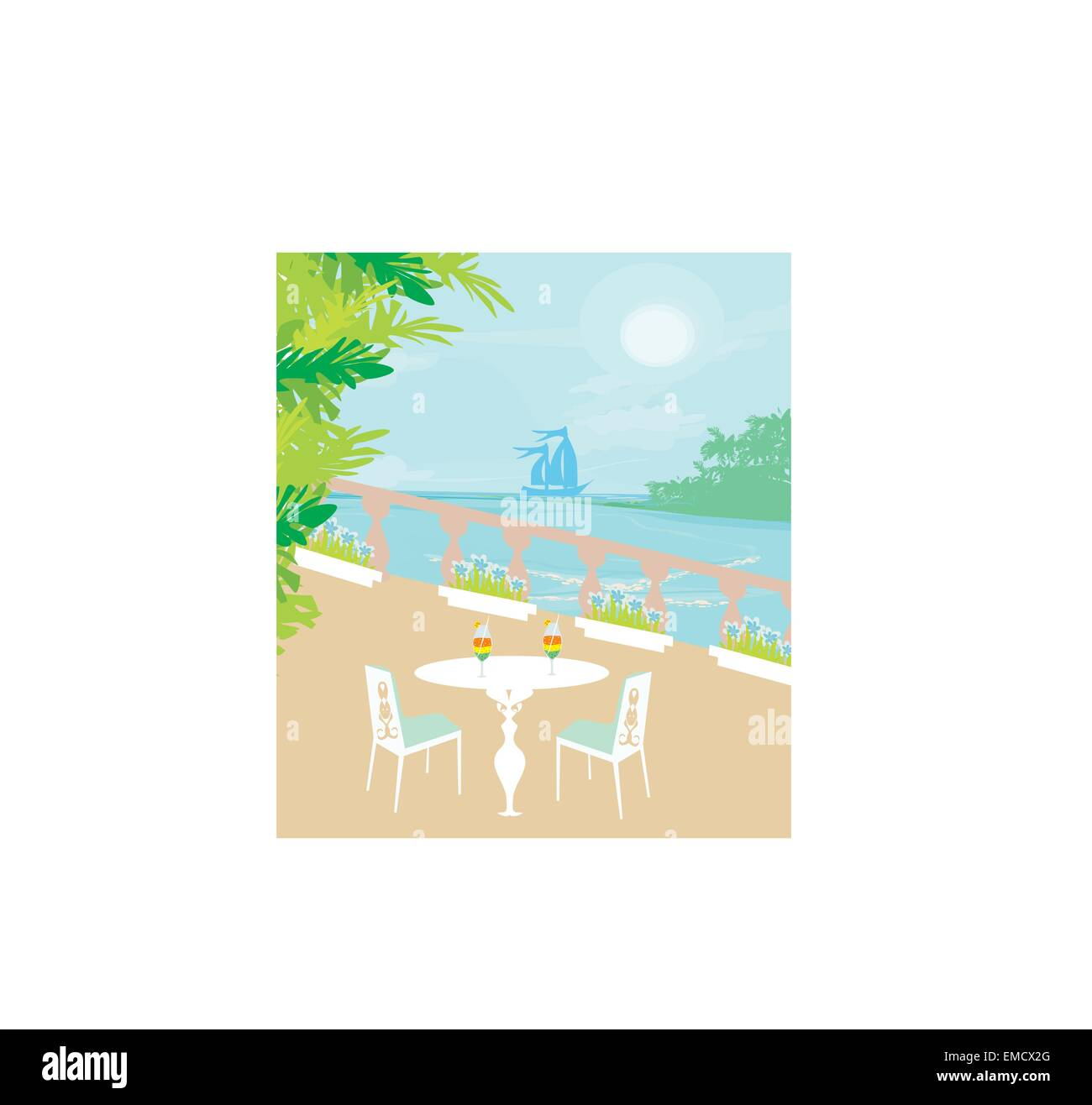 tropical drink bar - Stock Image