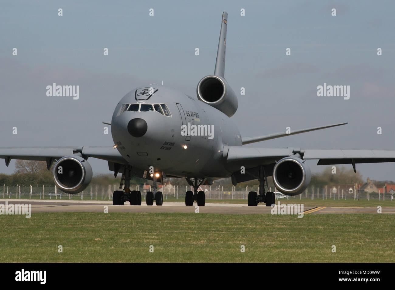 USAF US AIR FORCE KC10 TANKER - Stock Image