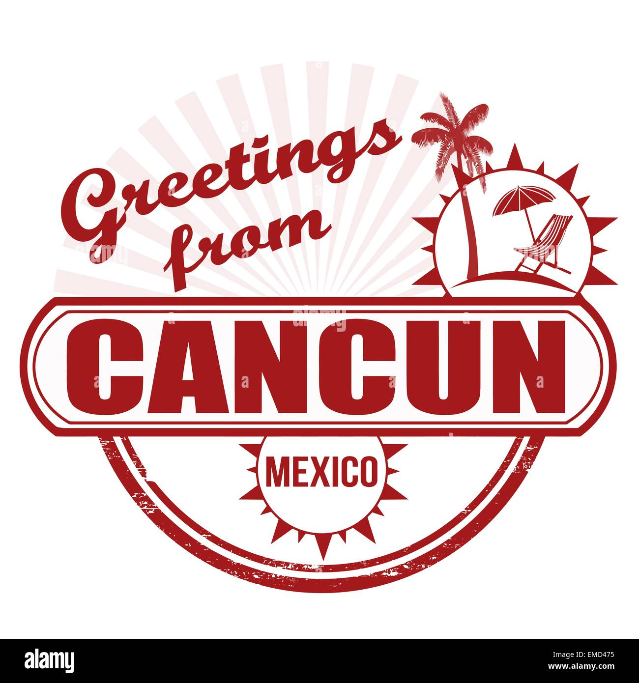 Greetings From Cancun Stamp Stock Vector Art Illustration Vector