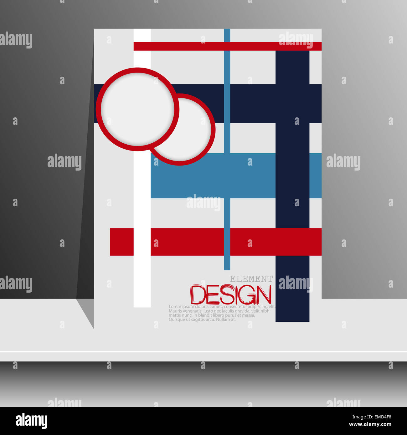 Magazine cover with pieces of colored Paper.For Leaflets, Books ...