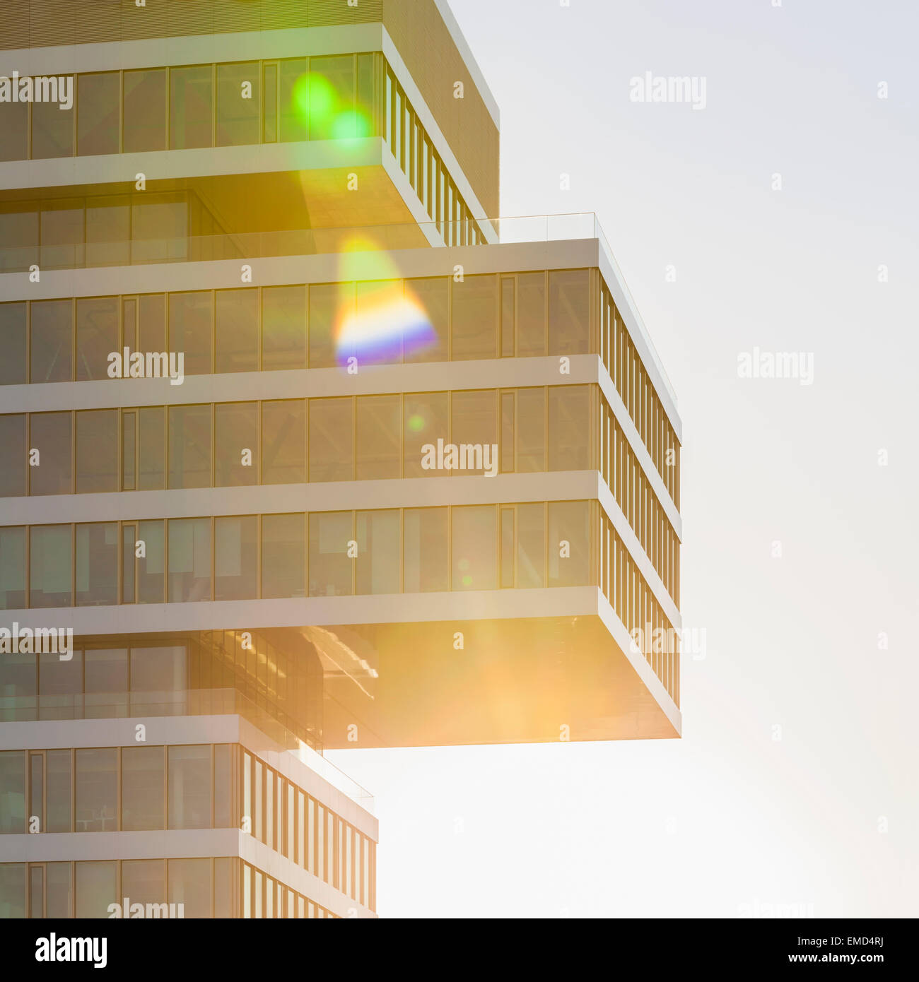 Germany, Renningen, fassade of Center for Research and Advance Development at backlight - Stock Image