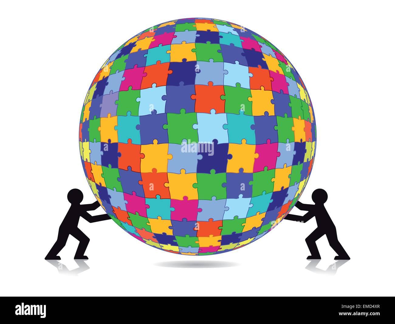 Puzzle challenge - Stock Image