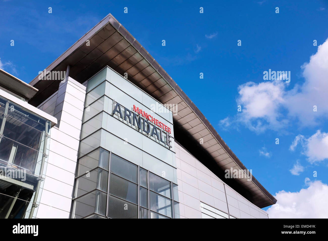 Signage on the Manchester Arndale shopping centre UK - Stock Image