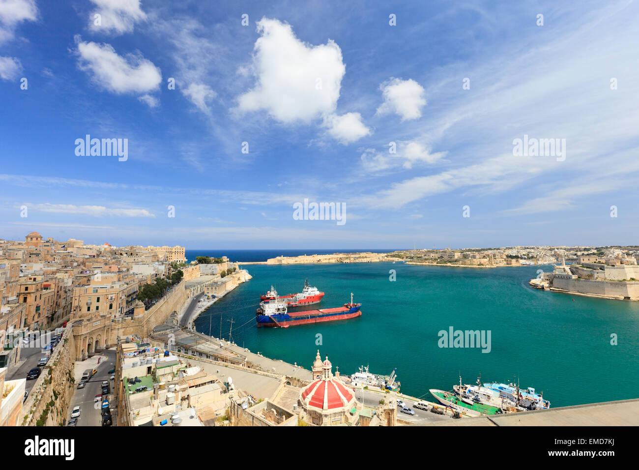 Valletta harbor - Stock Image
