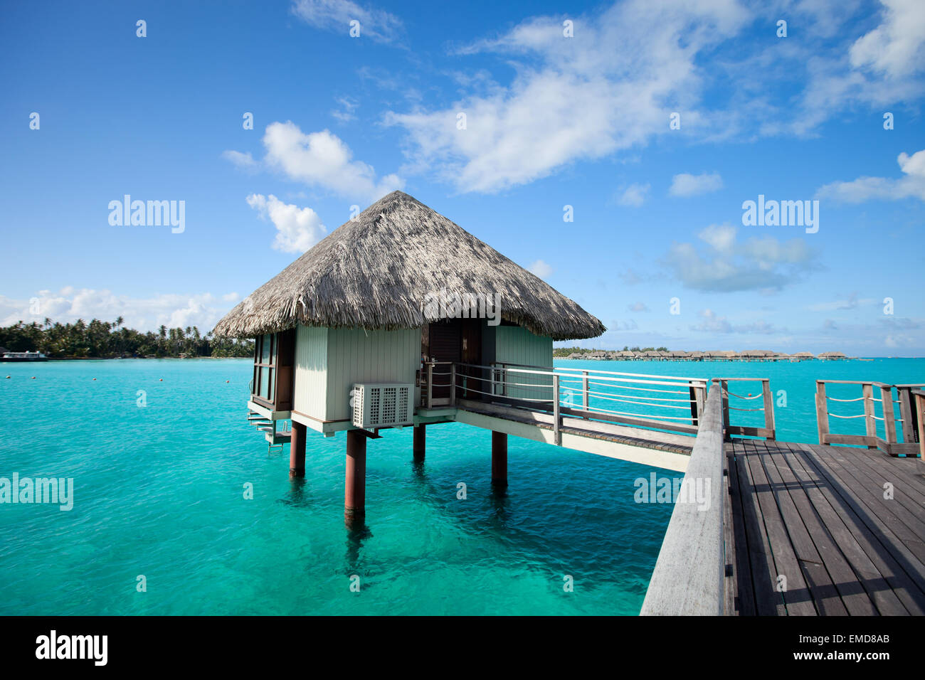 Overwater bungalow - Stock Image