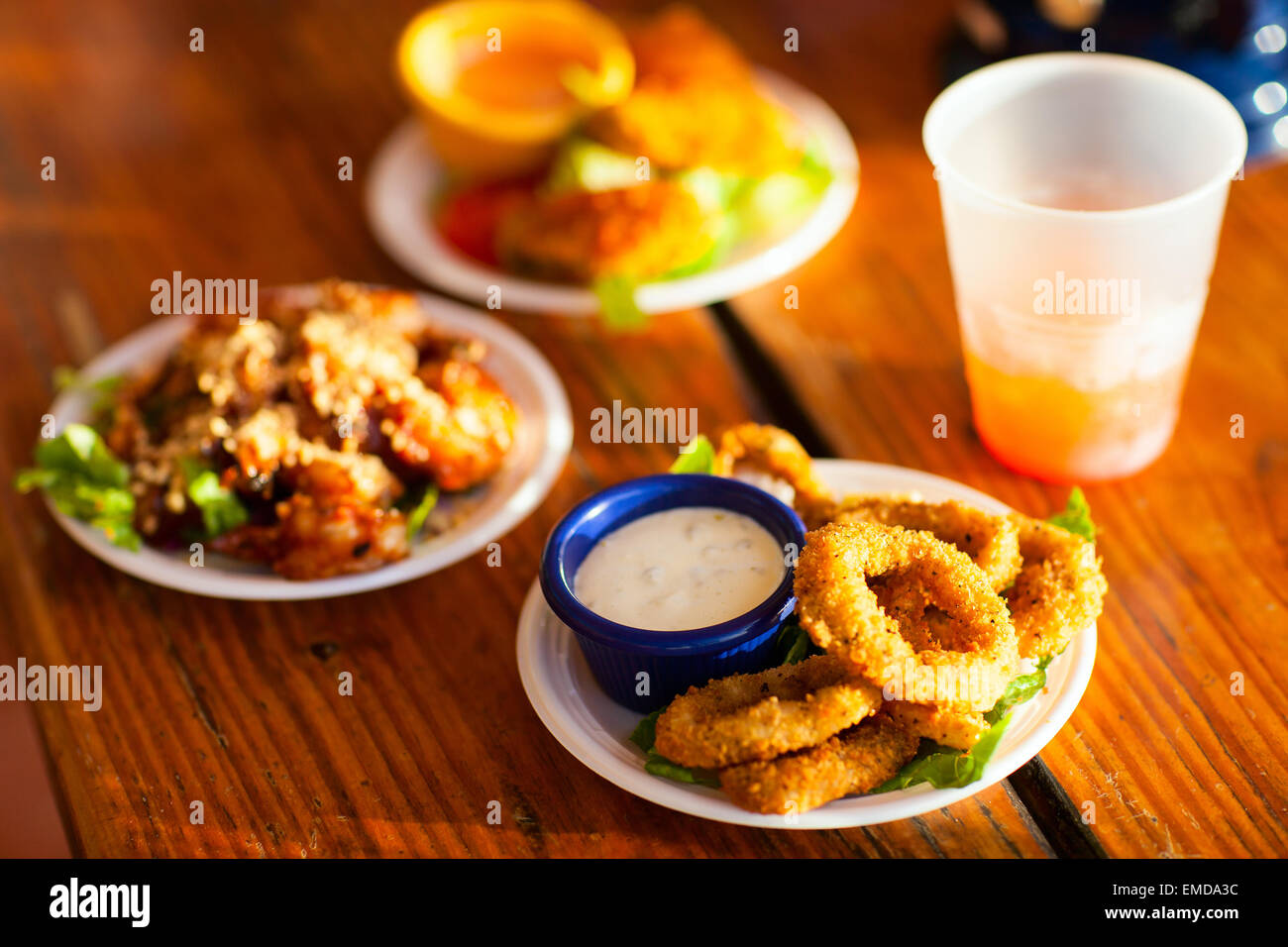 Different kinds of snacks   Lunch snacks - Stock Image