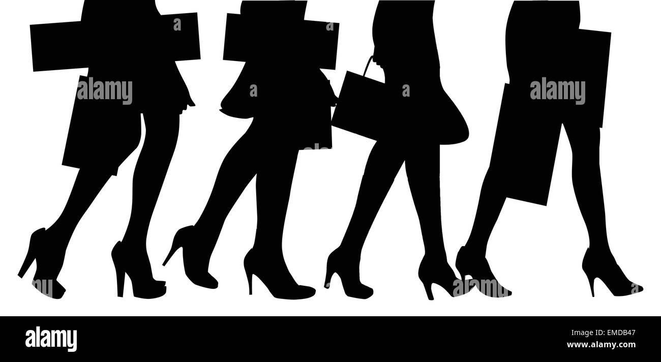 Shoppers - Stock Vector
