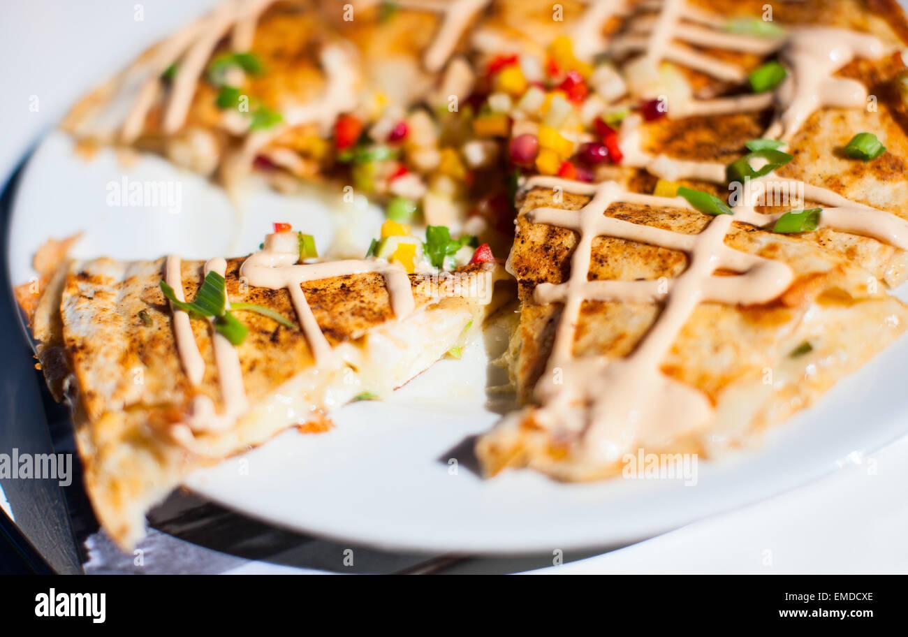 Lobster quesadillas - Stock Image