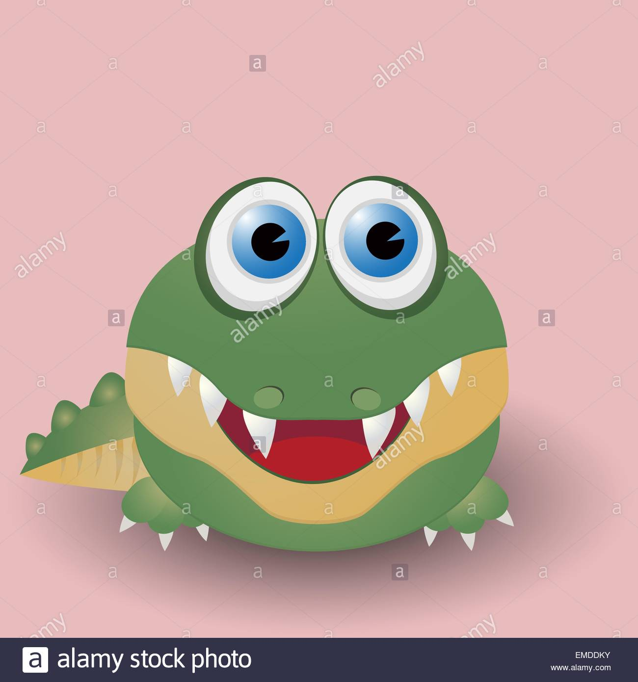 Baby Gator Stock Vector Images Alamy