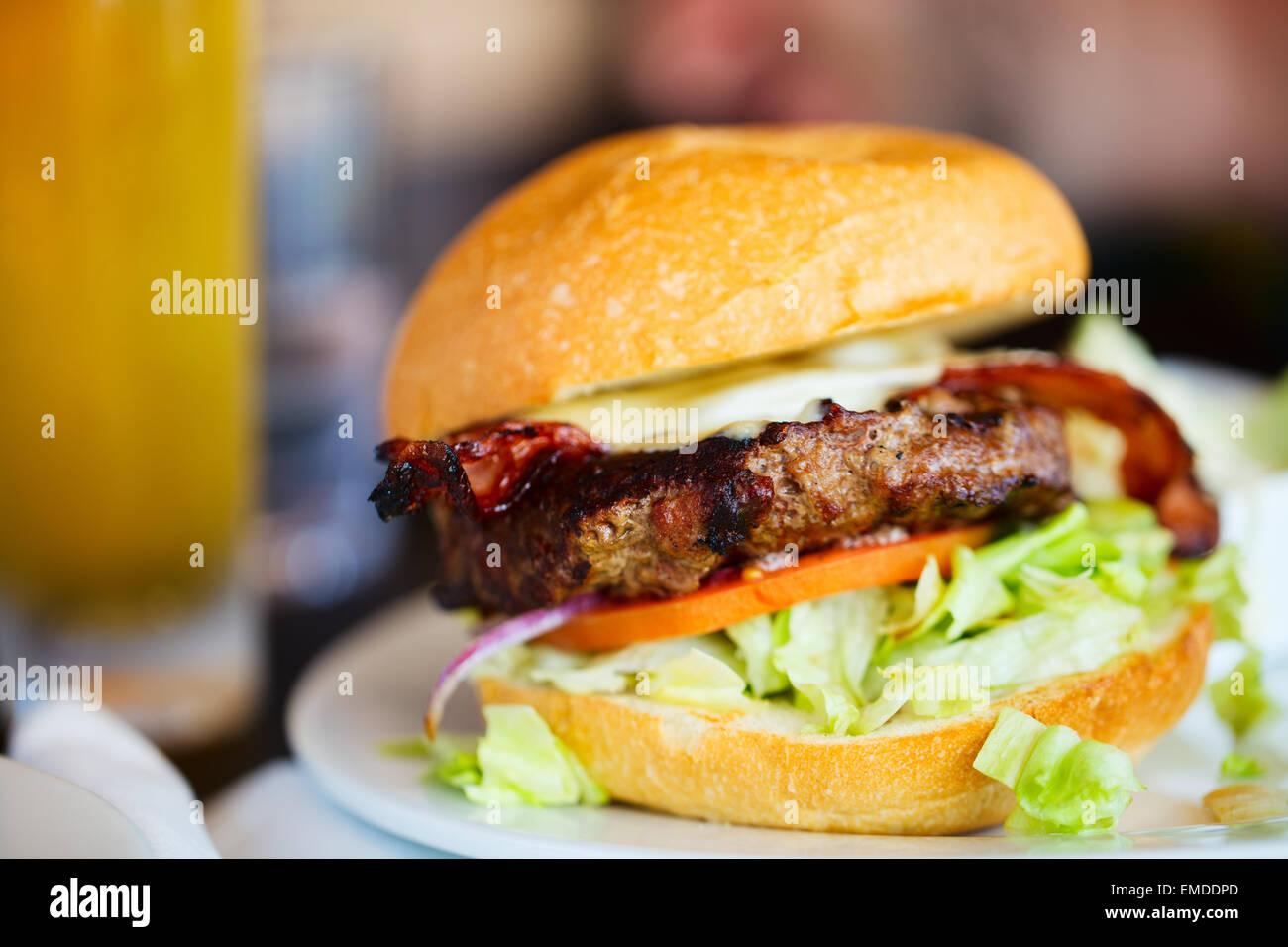 Burger - Stock Image