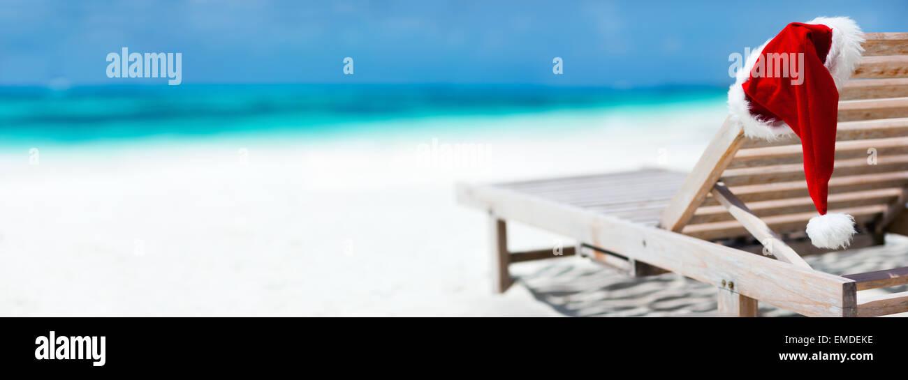Christmas beach vacation - Stock Image