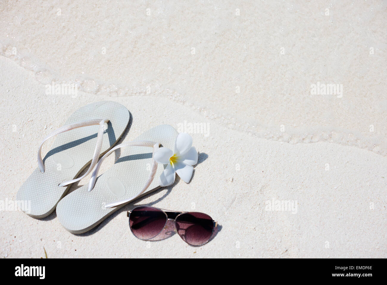 Beach vacation - Stock Image
