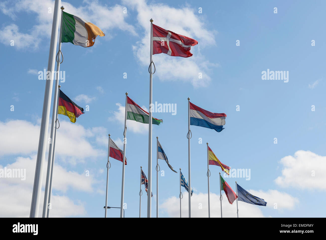 Flags of countries in Europe - Stock Image