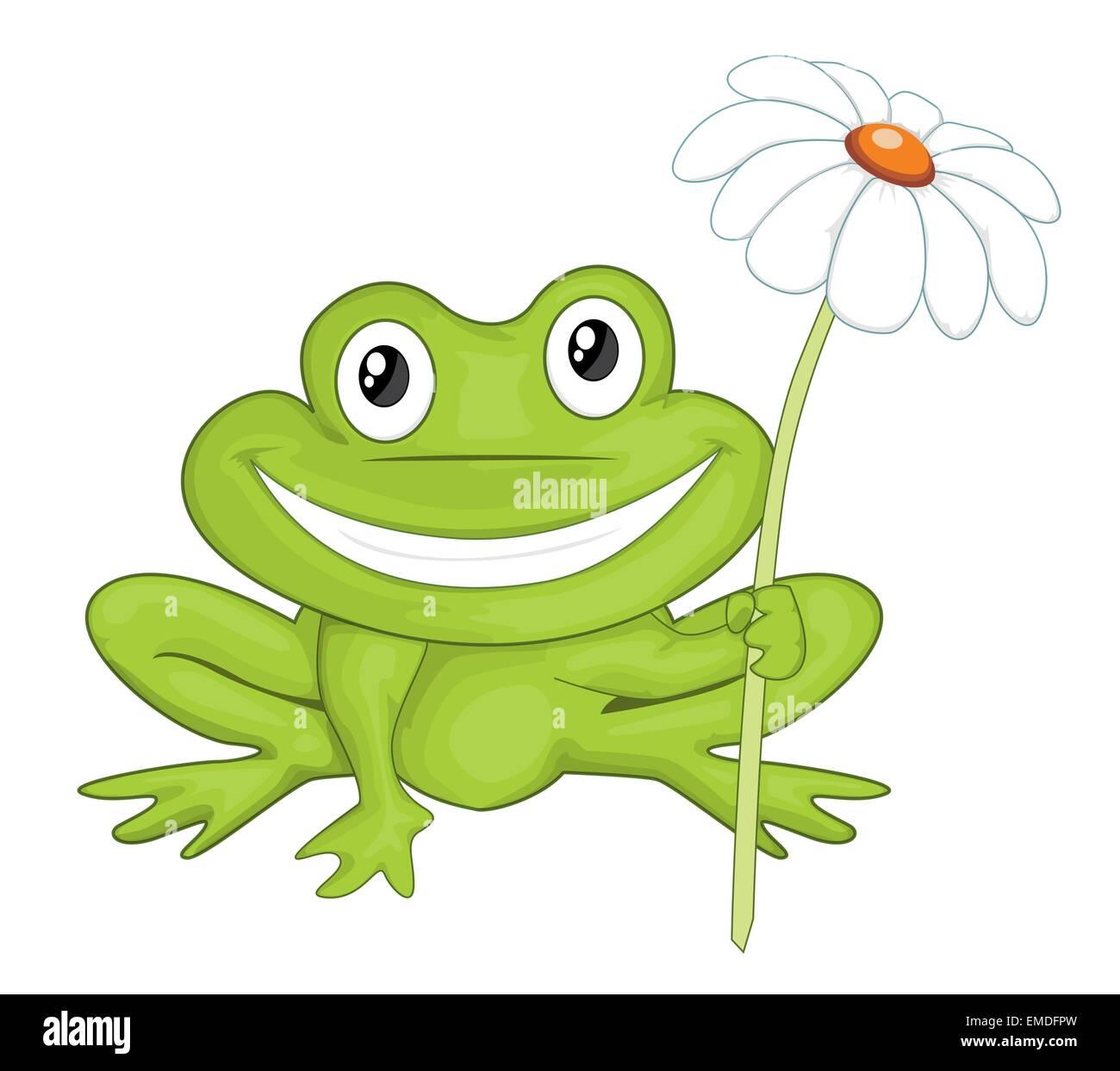 cartoon frog stock vector art illustration vector image 81432369 rh alamy com Leaping Frog Clip Art Vector The Crocodile