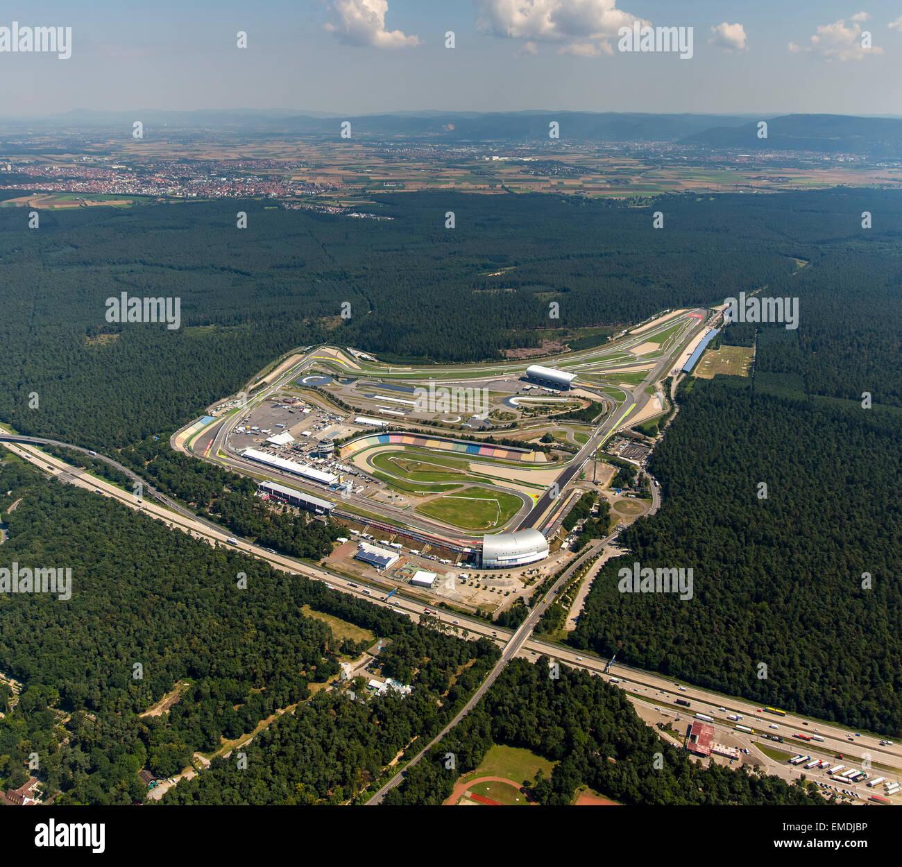 Hockenheimring, DTM motor racing circuit, Hockenheim, Baden-Württemberg, Germany - Stock Image