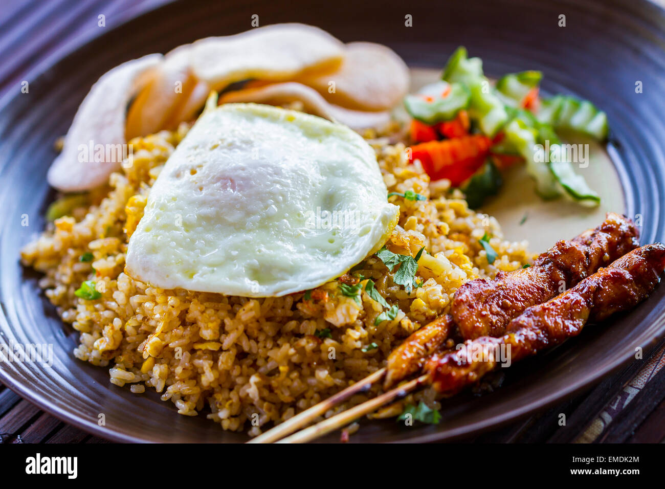 nasi goreng indonesian traditional recipe with fried rice fried
