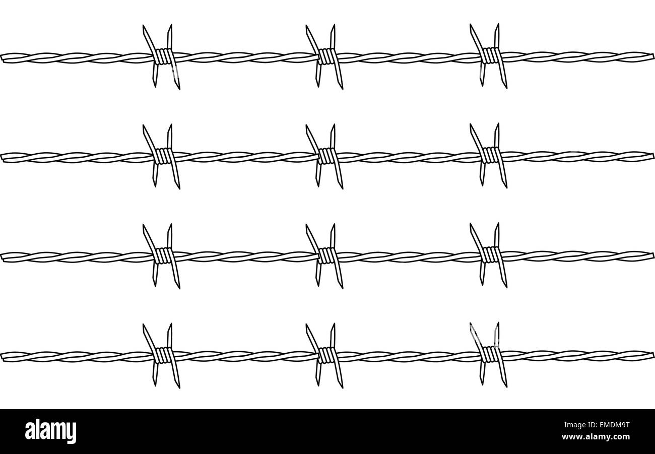 Barbed Wire Stock Vector