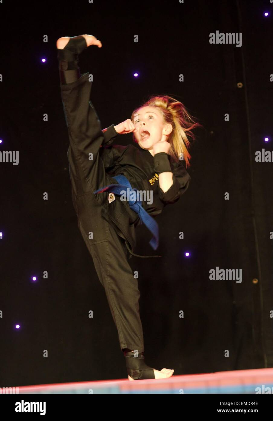 Jesse Jane McParland from Keady who went on to take part in Britain's Got Talent.   Club Ceide presents Keady - Stock Image