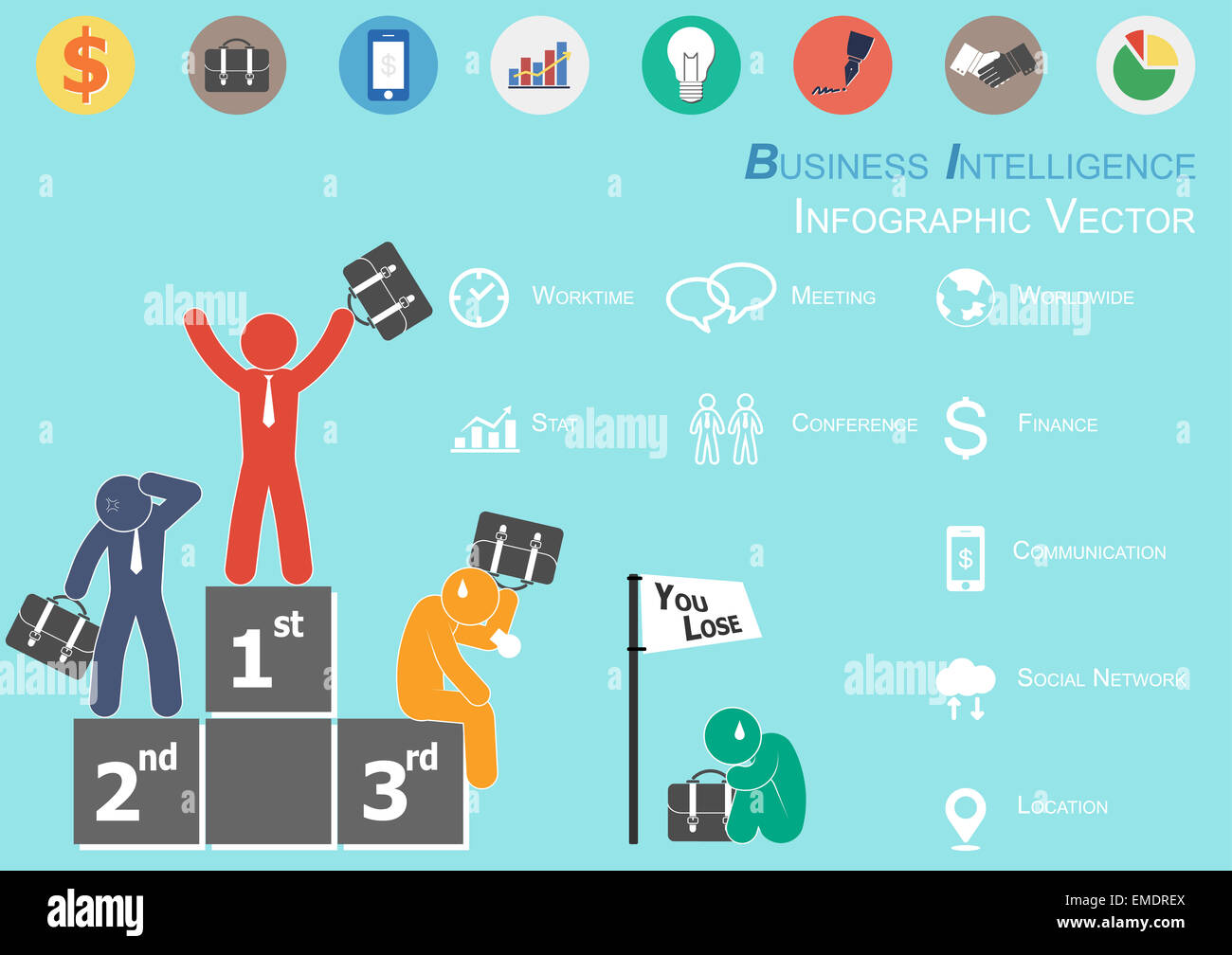 Infographic Of Business Intelligence ( The Winner Is Glad