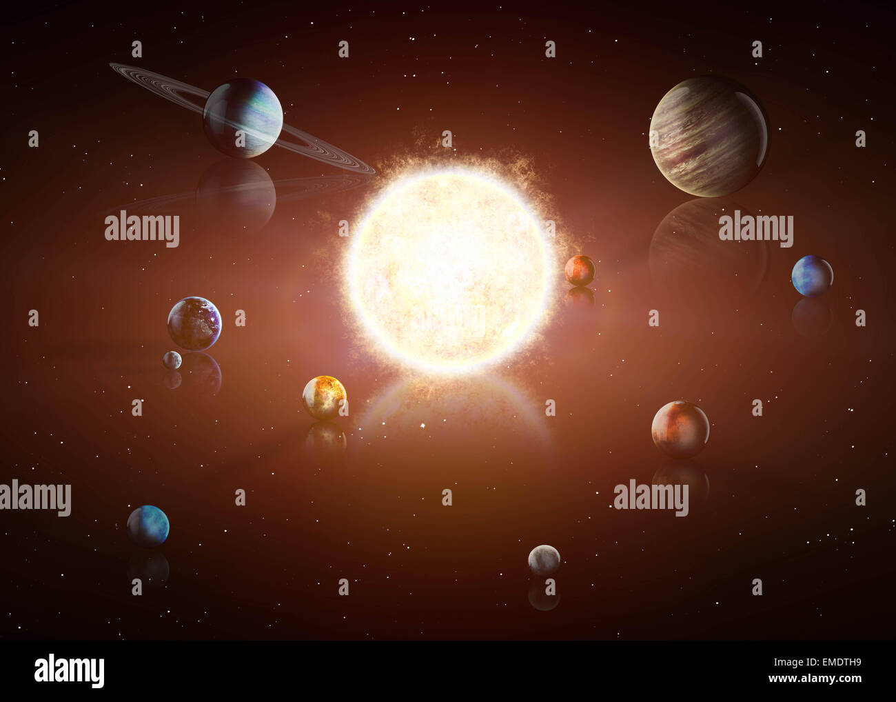 Earth Orbit Around Sun Stock Photos Amp Earth Orbit Around