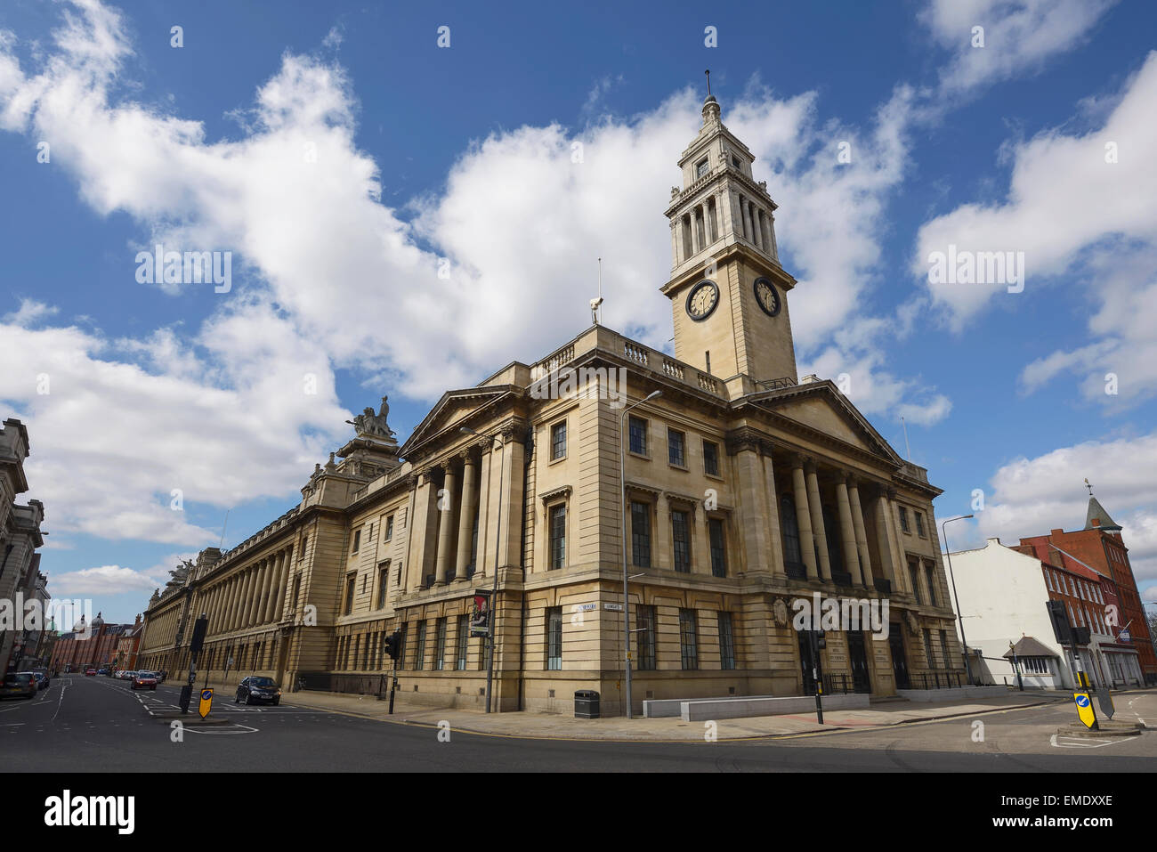 The Hull City Council Guildhall building in Hull city centre UK - Stock Image