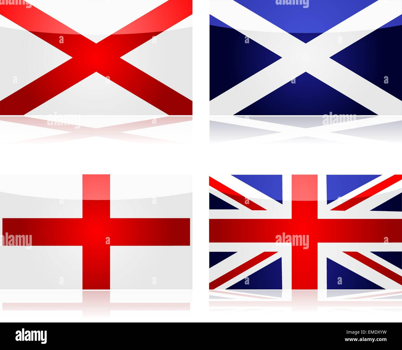 Creating the Union Jack - Stock Vector