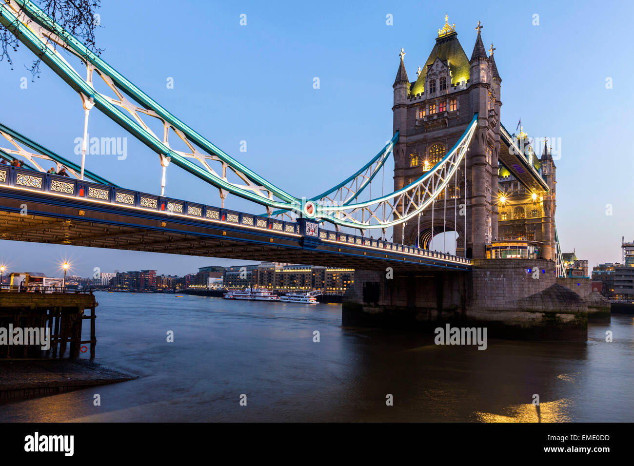 Tower Bridge in London, UK - Stock Image