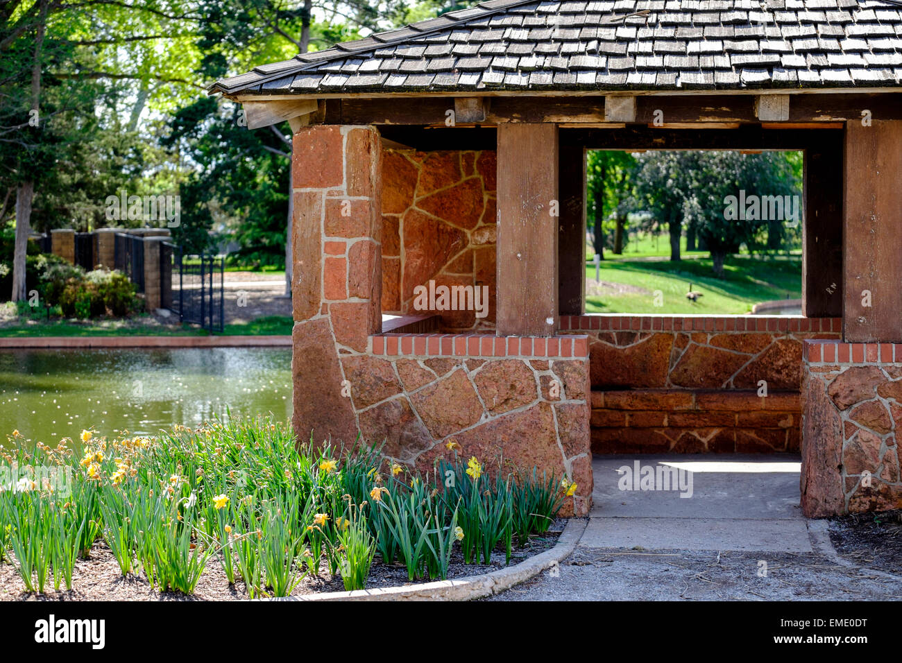 Rogers Garden Stone A stone gazebo located in will rogers park in oklahoma city stock a stone gazebo located in will rogers park in oklahoma city oklahoma workwithnaturefo