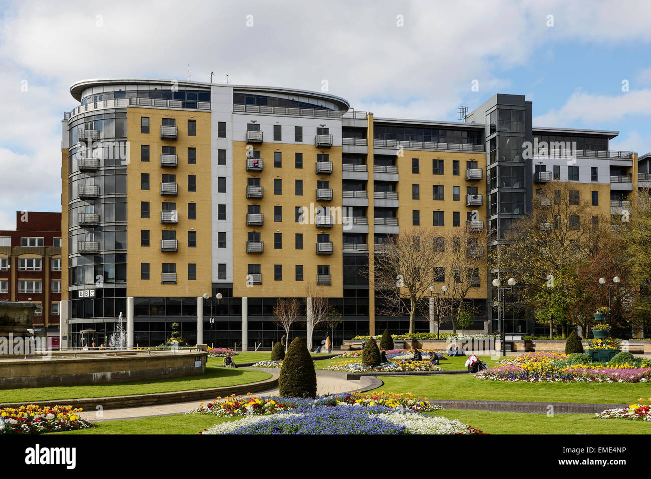The Queens Court building and Queens Gardens in Hull city centre UK ...