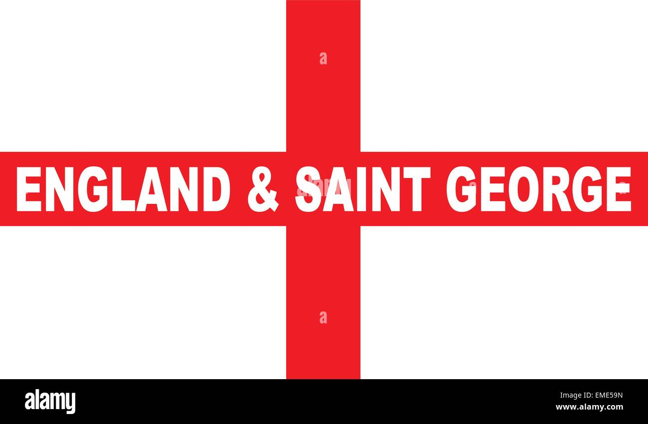 Flag of England and Saint George - Stock Vector