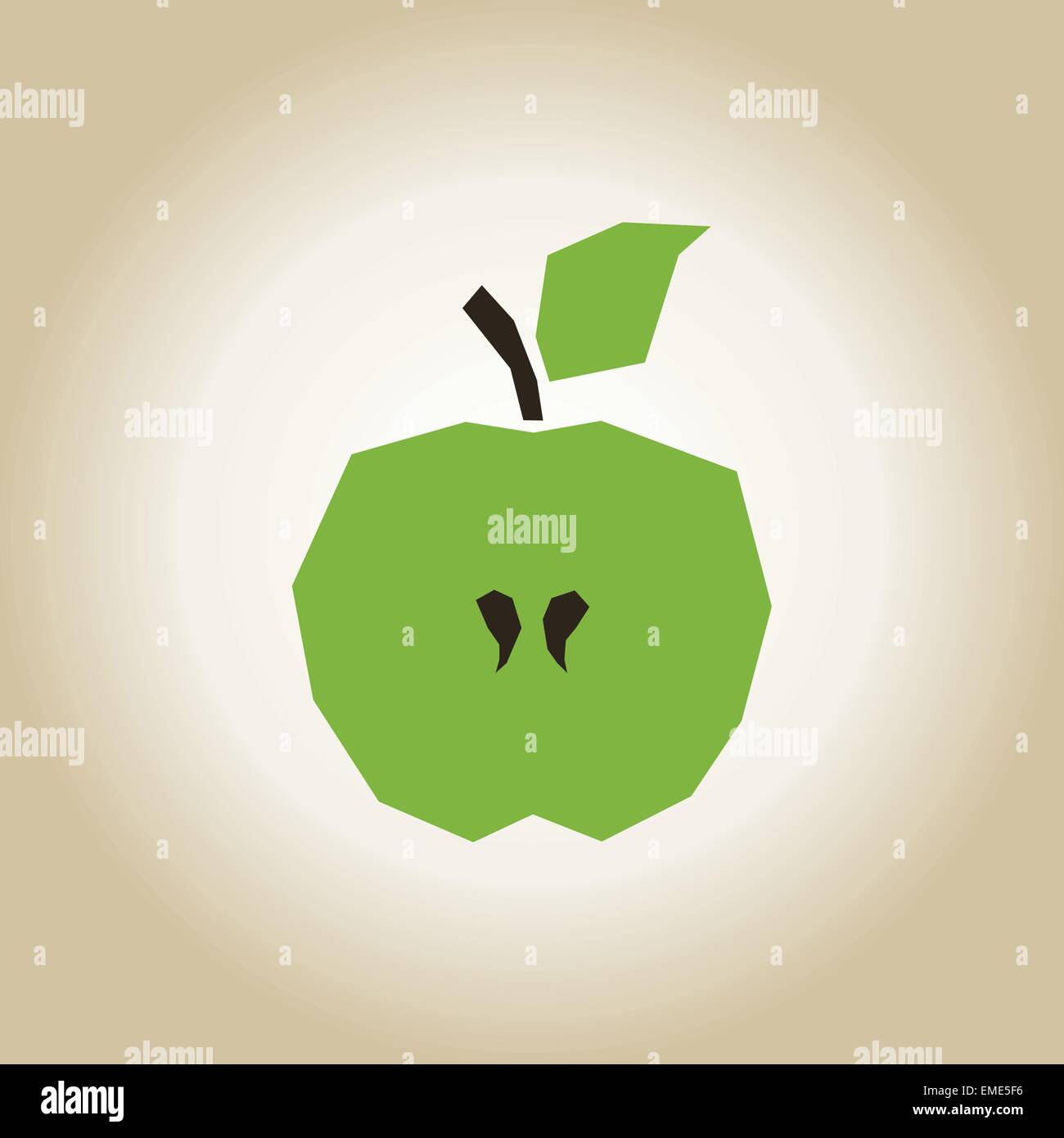Apple broken - Stock Vector
