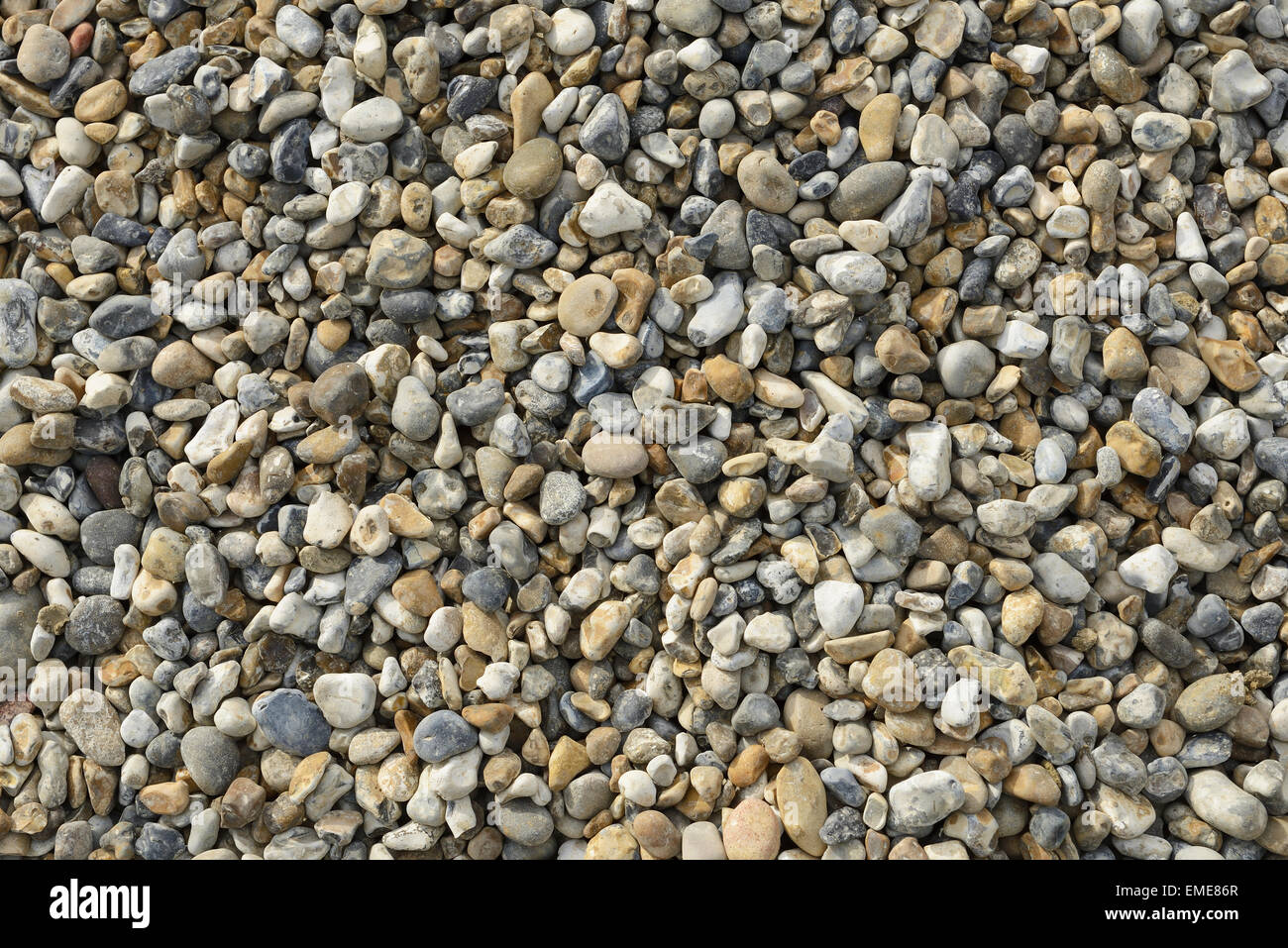 Beach pebbles - Stock Image