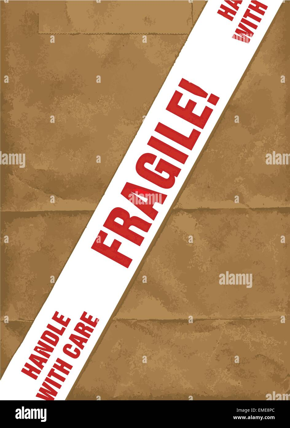 Fragile With Care - Stock Vector
