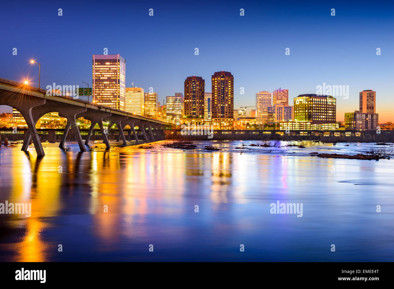 Richmond, Virginia, USA downtown city skyline. - Stock Image