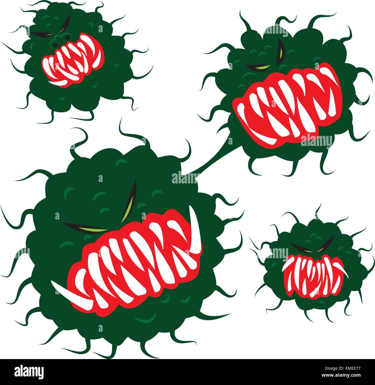 germs virus  bacteria - Stock Image