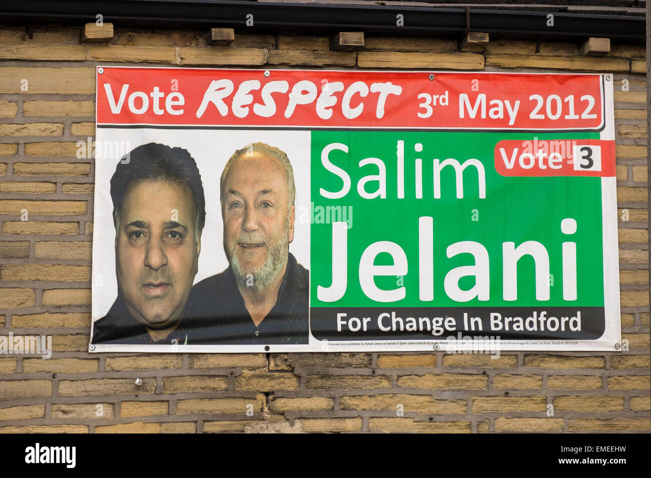 London, UK. 20th Apr, 2015. 20th April 2015 Respect party using a  poster from 2012 Credit:  Paul Chambers/Alamy Stock Photo
