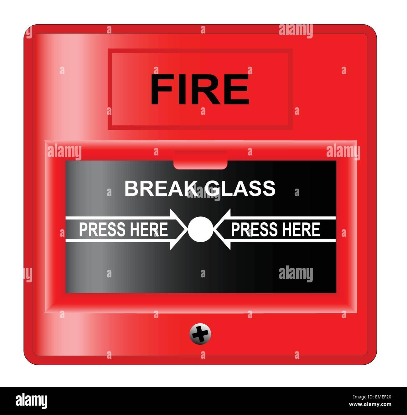 Break Glass - Stock Image