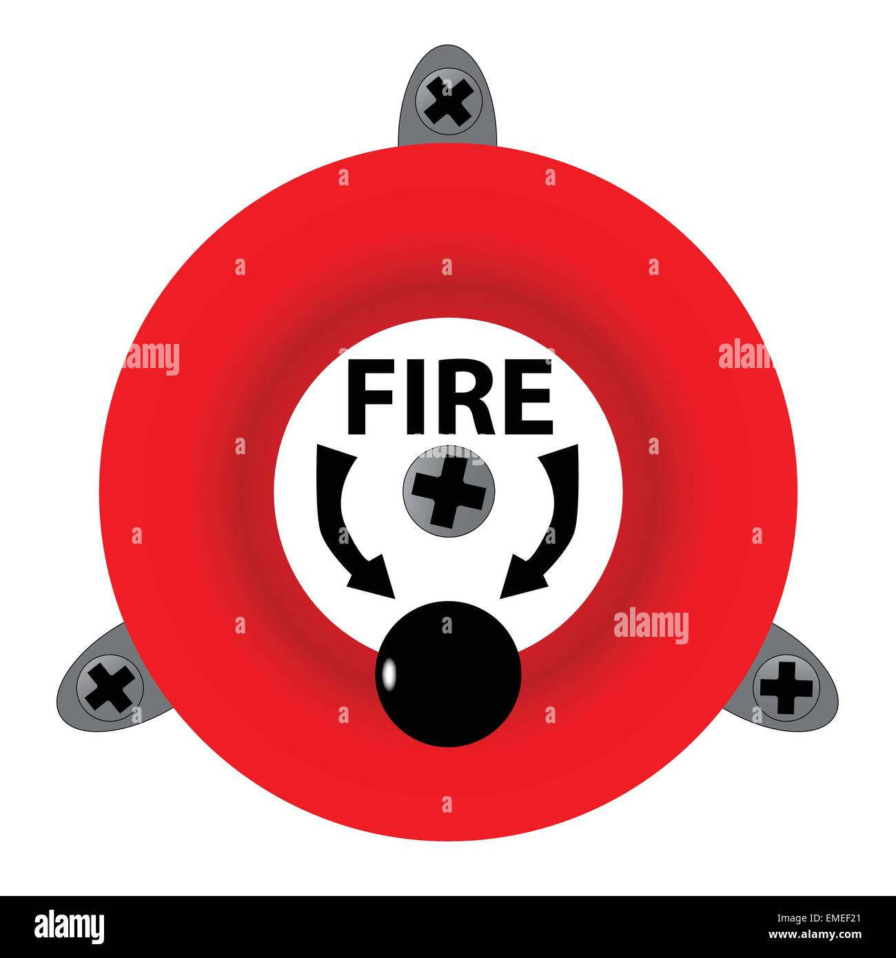 Fire Bell - Stock Image