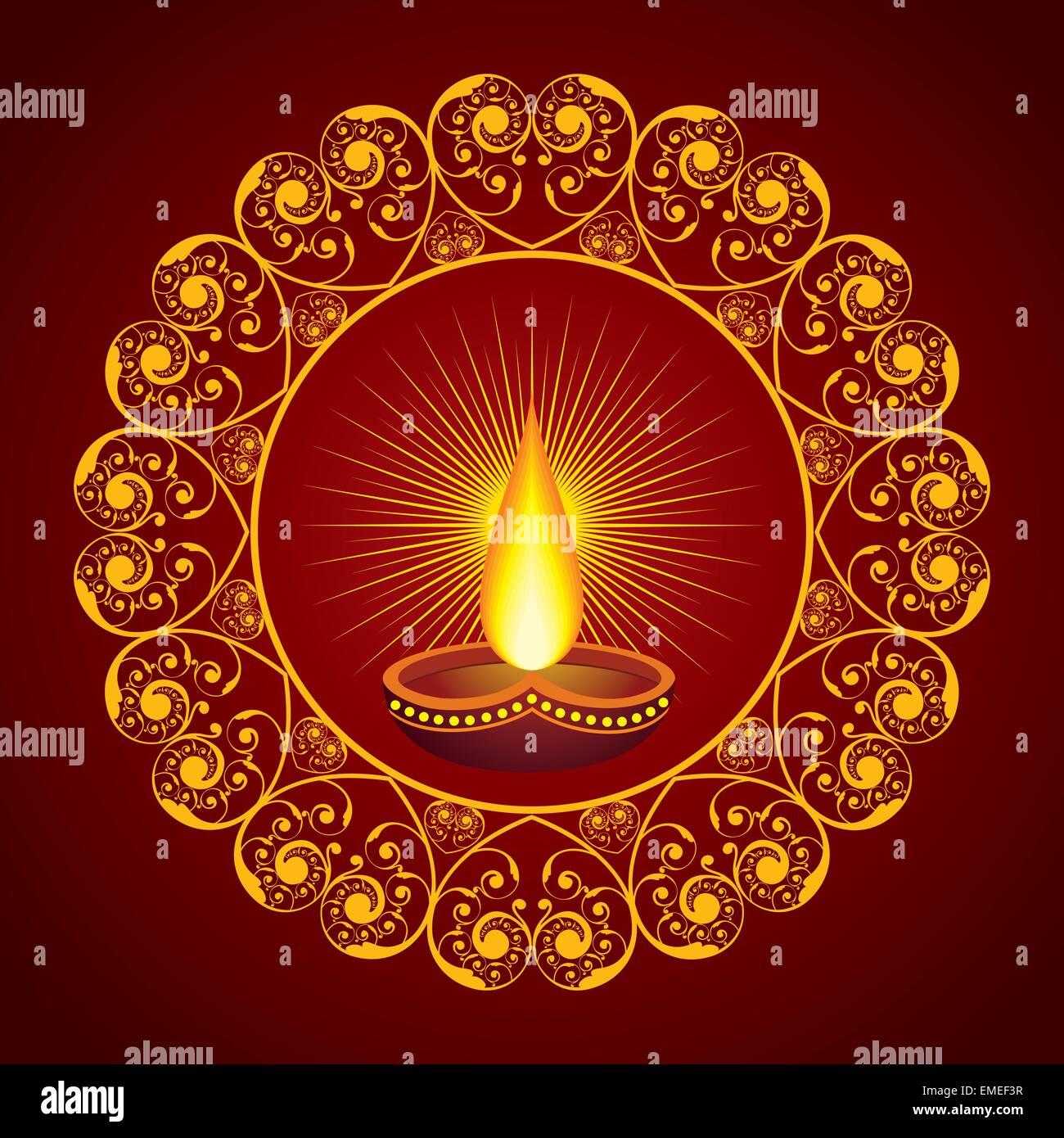 Creative Diwali Greeting Vector Illustration Stock Photos Creative