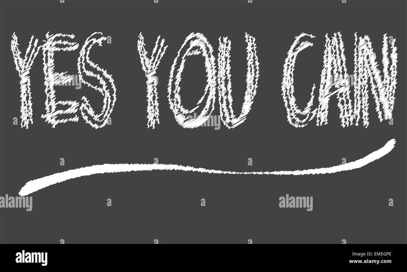 Yes You Can Blackboard - Stock Vector