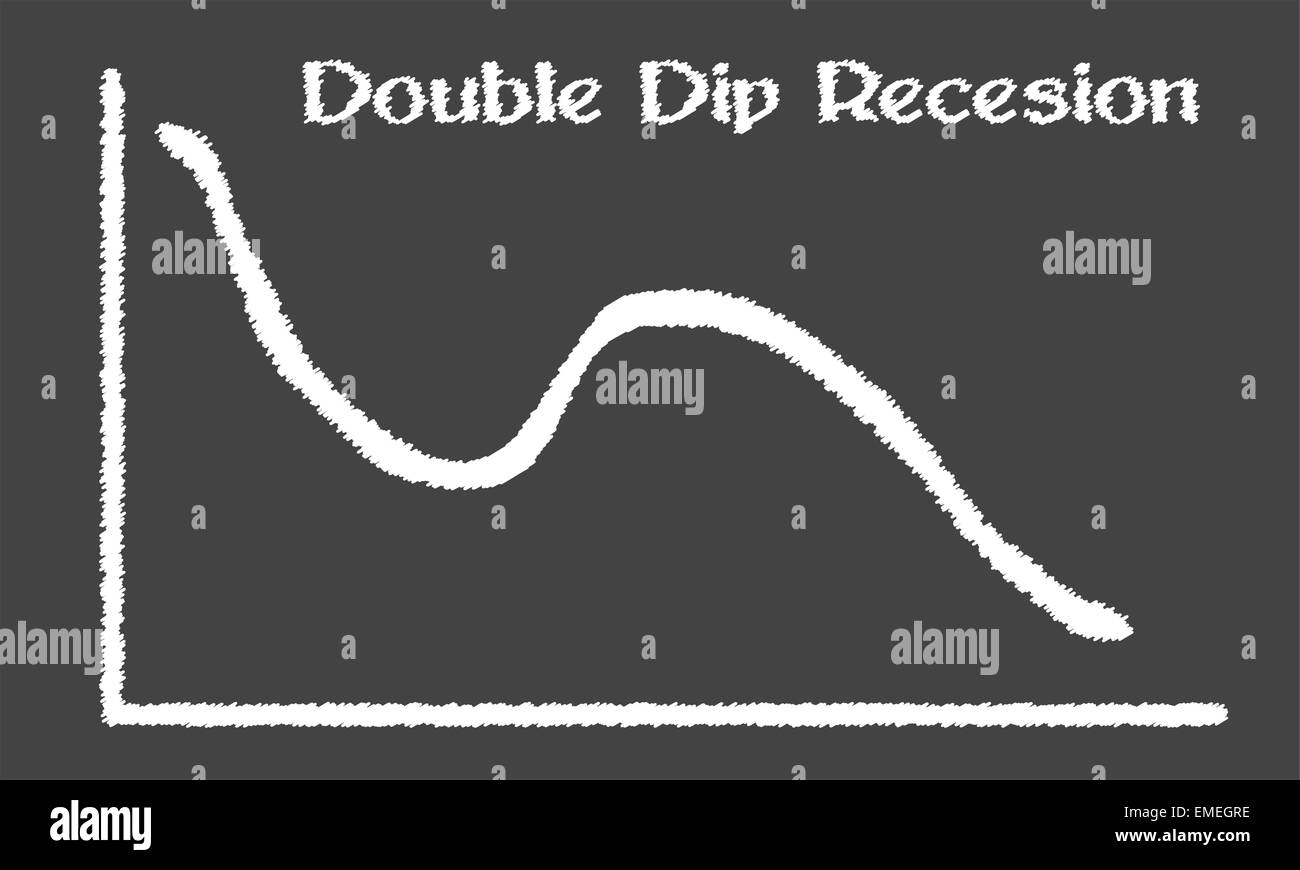 Double Dip Recession - Stock Vector