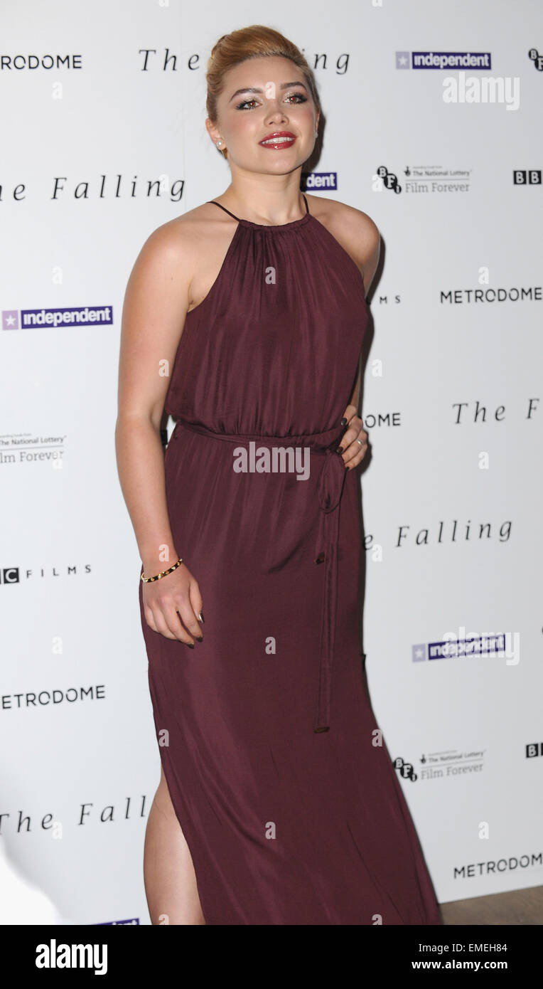 London, UK. 20th Apr, 2015. Florence Pugh attends the Gala Screening of 'The Falling' at Ham Yard Hotel. Credit: Stock Photo
