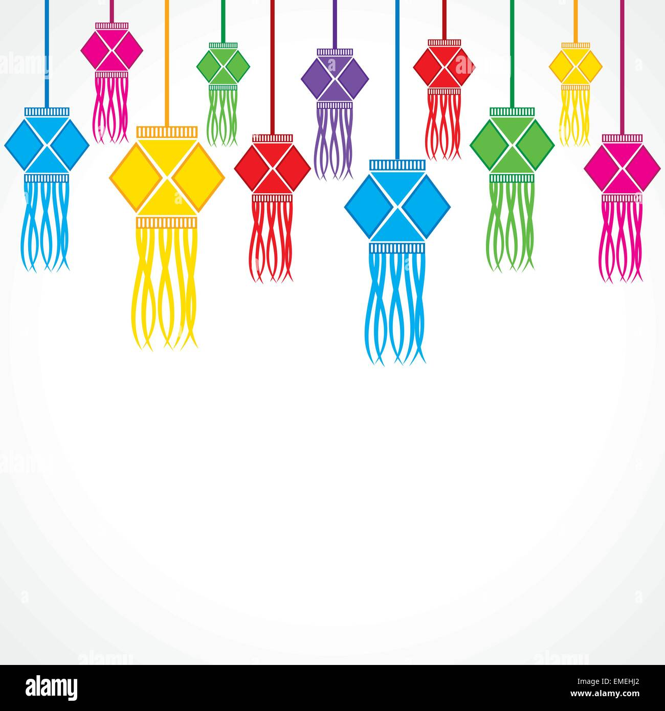 Illustration Of Diwali Greeting Background Stock Vector Art