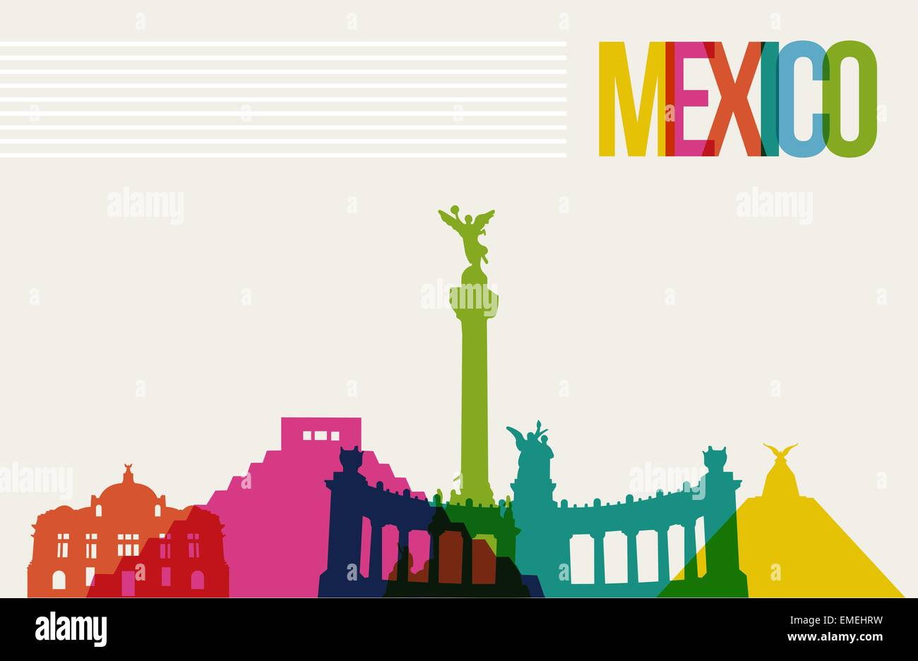Mexico City Skyline Stock Vector Images