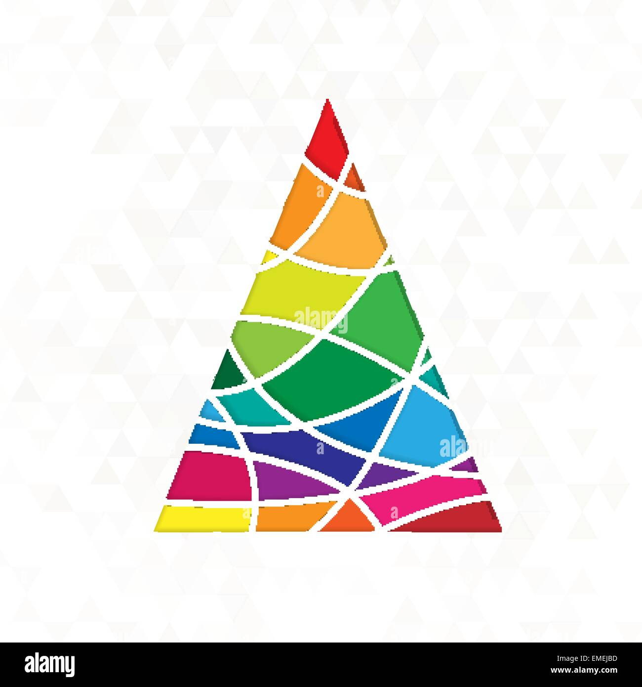 tree in rainbow colors - Stock Image