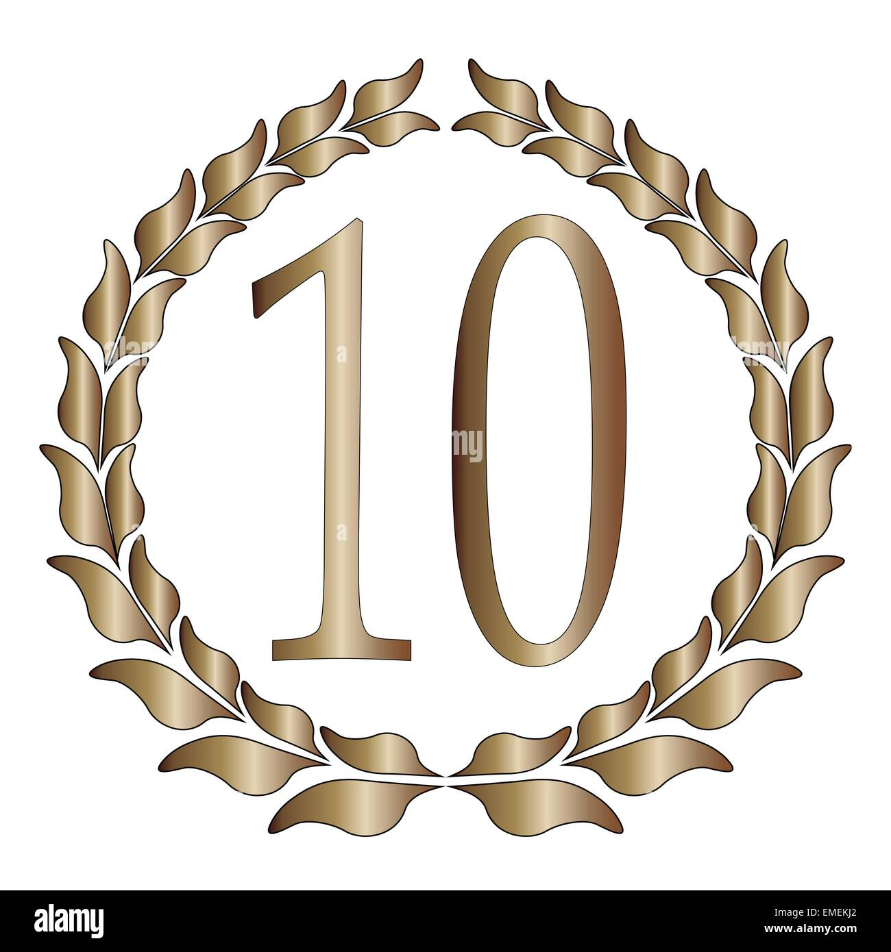 10th Anniversary - Stock Vector